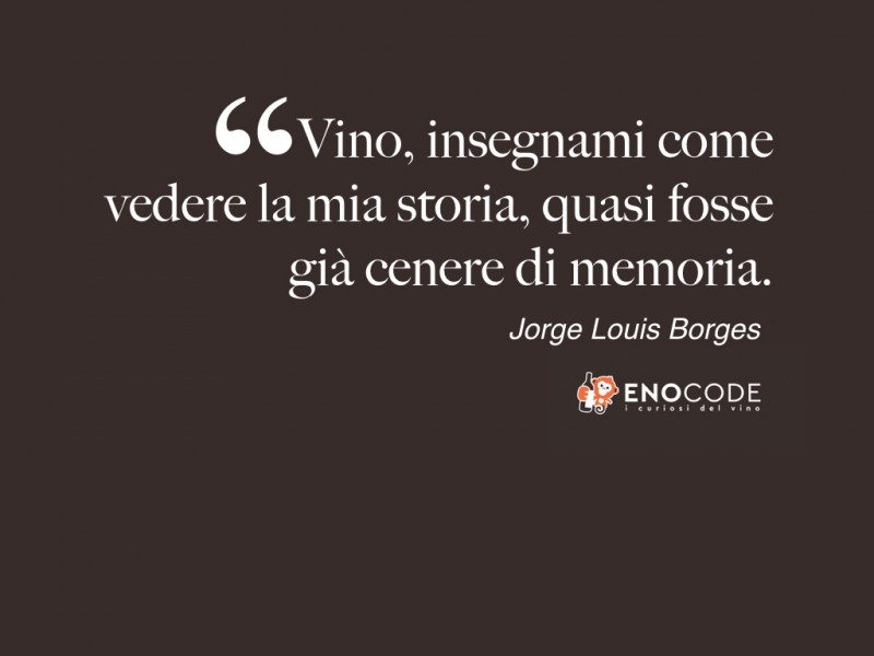 Vino storia e memoria  di  Jorge Louis Borges